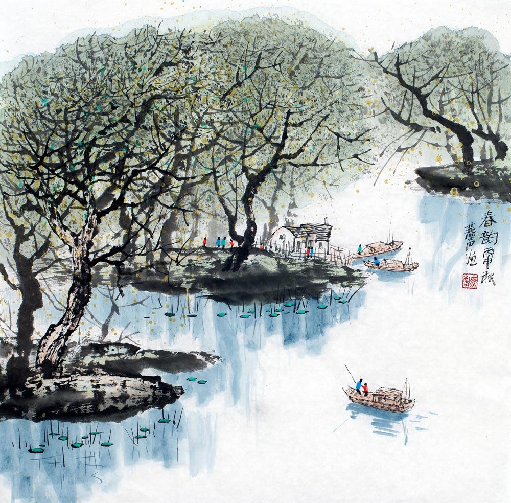 刘燕声水乡系列山水画作品